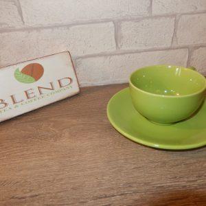 Lime teacup & saucer
